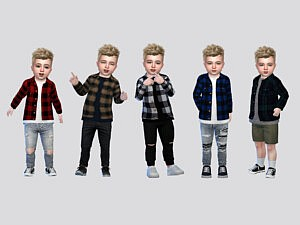 Curtis Plaid Shirt Toddler Sims 4 CC