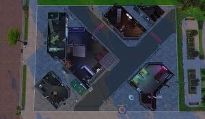 Cyberpunk style Street Sims 4 CC