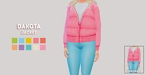 Dakota jacket sims 4 cc