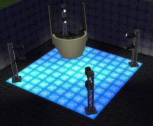 Dancin Glass Floor Tile sims 4 cc
