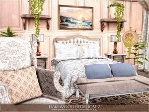 Darkwood Bedroom 2 sims 4 cc