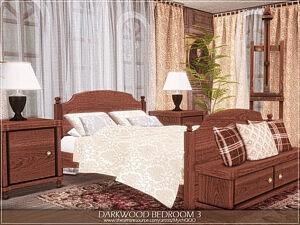 Darkwood Bedroom Sims 4 CC