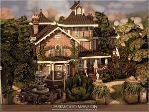 Darkwood Mansion sims 4 cc