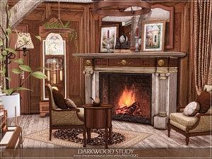 Darkwood Study Sims 4 CC