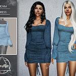 Denim Dress sims 4 cc