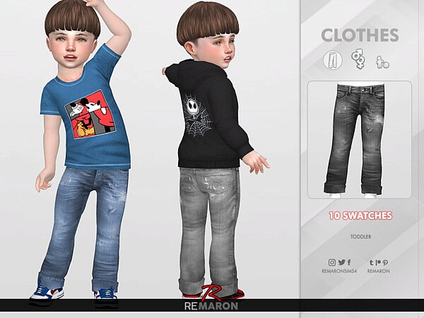 Denim Pants for Toddler 02 by remaron from TSR