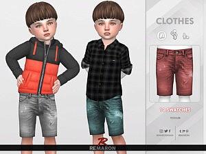 Denim Shorts for Toddler 02 sims 4 cc