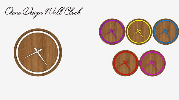 Designer Walls Clock Sims 4 CC