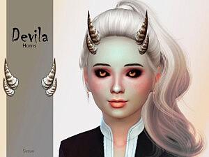Devila Child Horns sims 4 cc