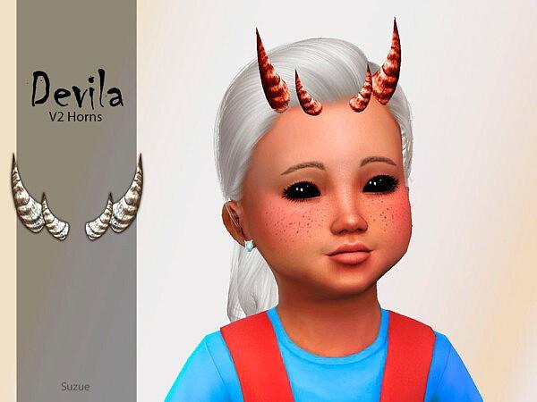 Devila Toddler Horns sims 4 cc1
