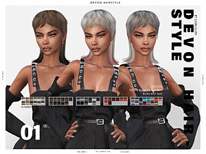 Devon Hair Sims 4 CC