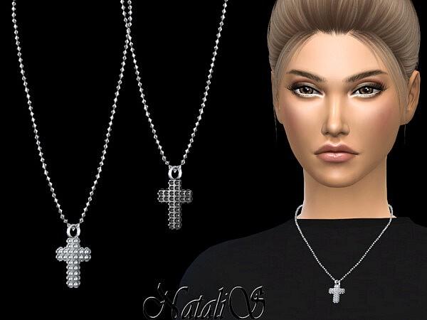 Diamond pave cross pendant sims 4 cc