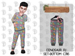 Dinosaur Pajama Bottom For Toddlers Sims 4 CC