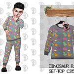 Dinosaur Pajama Top Sims 4 CC