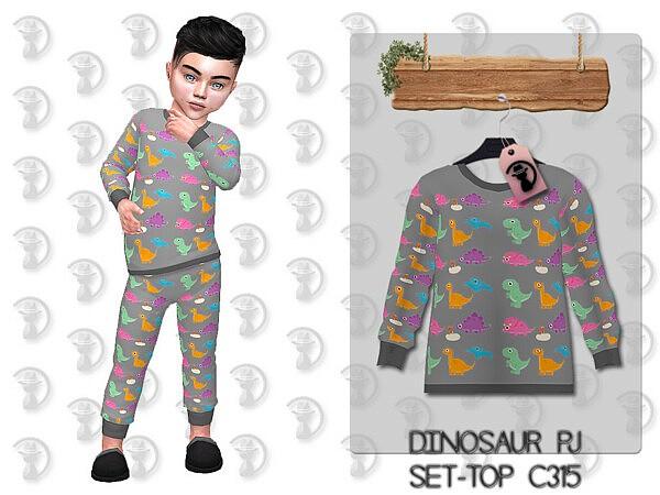 Dinosaur Pajama Top by turksimmer from TSR