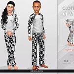 Disney Pajama for Child 01 Pants Sims 4 CC