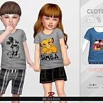 Disney Shirt for Toddler 01 Sims 4 CC