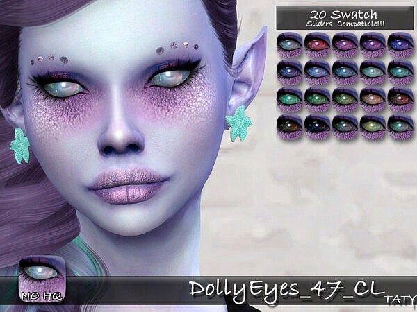 Dolly Eyes 47 sims 4 cc
