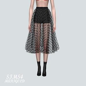 Dot Sha Skirt
