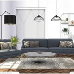 Downey Living Room sims 4 c