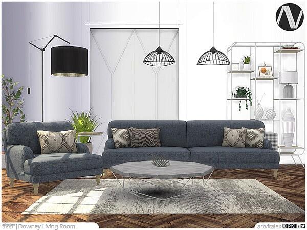 Downey Living Room by ArtVitalex from TSR