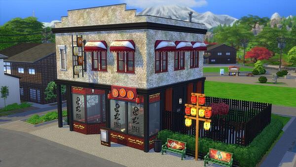 Dragon Kitchen Restaurant sims 4 cc