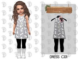 Dress C331 sims 4 cc