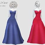 Dress N300 Sims 4 CC