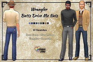 Drive Me Nuts Jeans Sims 4 CC