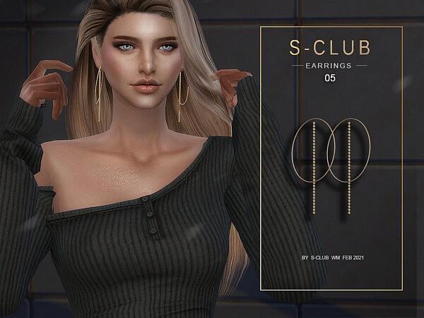 Earrings 202105 by S Club from TSR