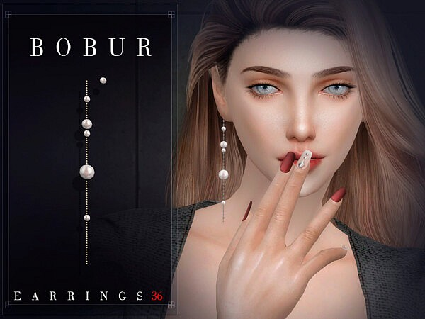 Earrings 36 Sims 4 CC
