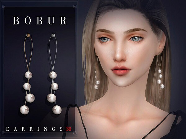 Earrings 38 sims 4 cc