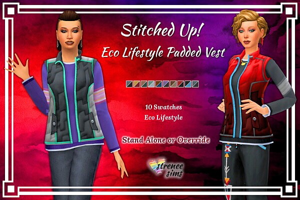 Eco Lifestyle Vest from Strenee sims