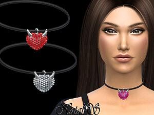 Evil heart pendant Sims 4 CC