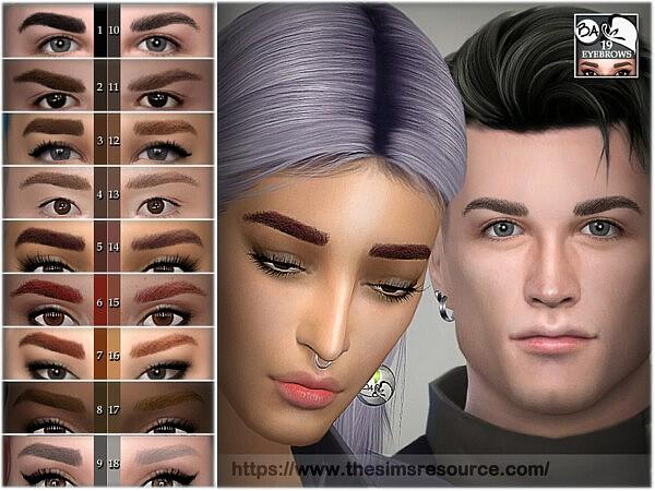 Eyebrows 19 sims 4 cc
