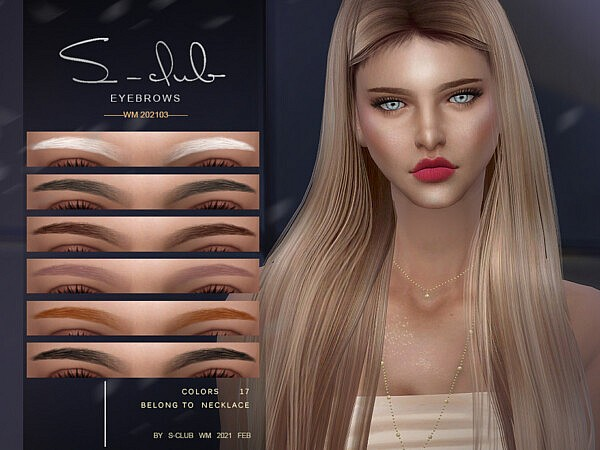 Eyebrows 202103 by S Club from TSR