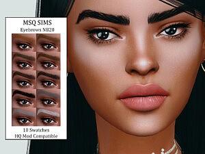 Eyebrows NB20 Sims 4 CC