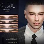 Eyebrows for men Sims 4 CC