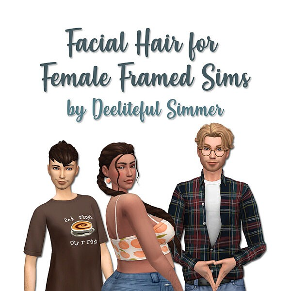 Facial hair sims 4 cc