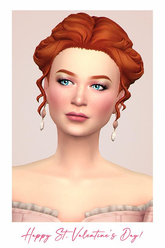 First Kiss Hair Sims 4 CC