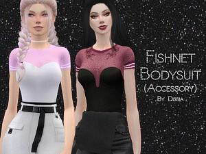 Fishnet Bodysuit Accessory sims 4 cc