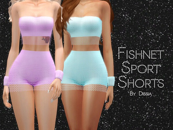 Fishnet Sport Shorts by Dissia from TSR