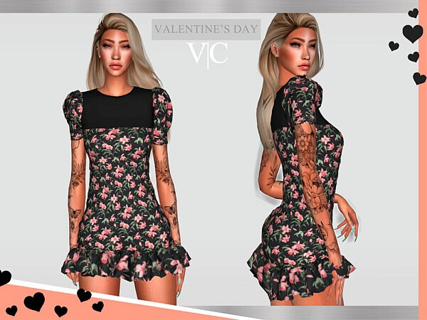 Dress Valentines Day III by Viy Sims from TSR