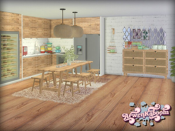 Frosted Grove Dining Room Sims 4 CC