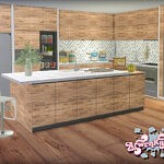 Frosted Grove Kitchen Sims 4 CC 1
