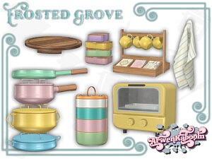 Frosted Grove Kitchen Sims 4 CC2