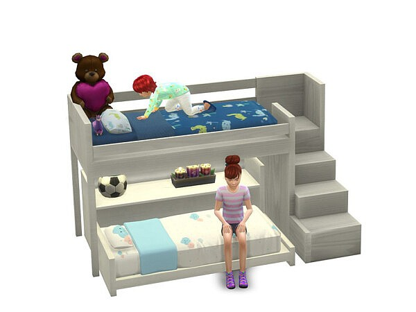 Functional Toddler Bunk Bed Sims 4 CC