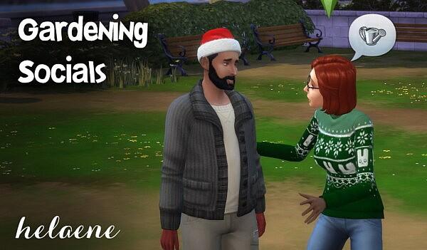 Gardening Social Interactions sims 4 cc