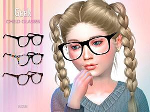 Geek Child Glasses Sims 4 CC