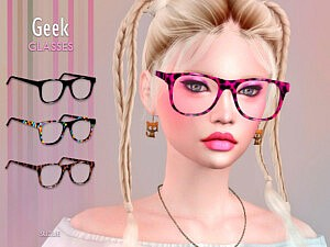 Geek Glasses Sims 4 CC